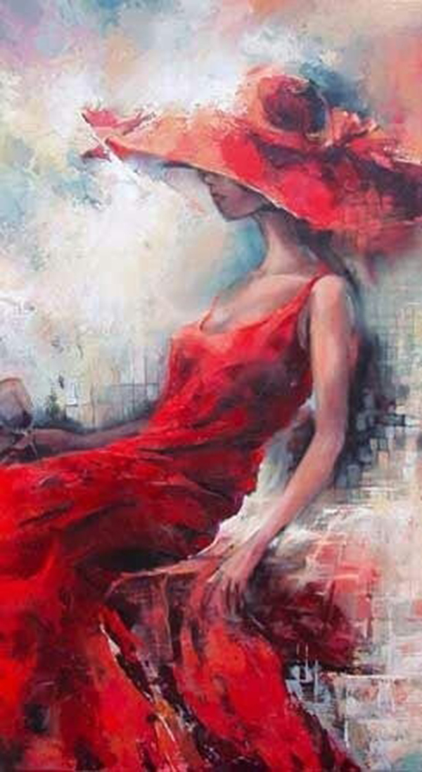 lady in red artist
